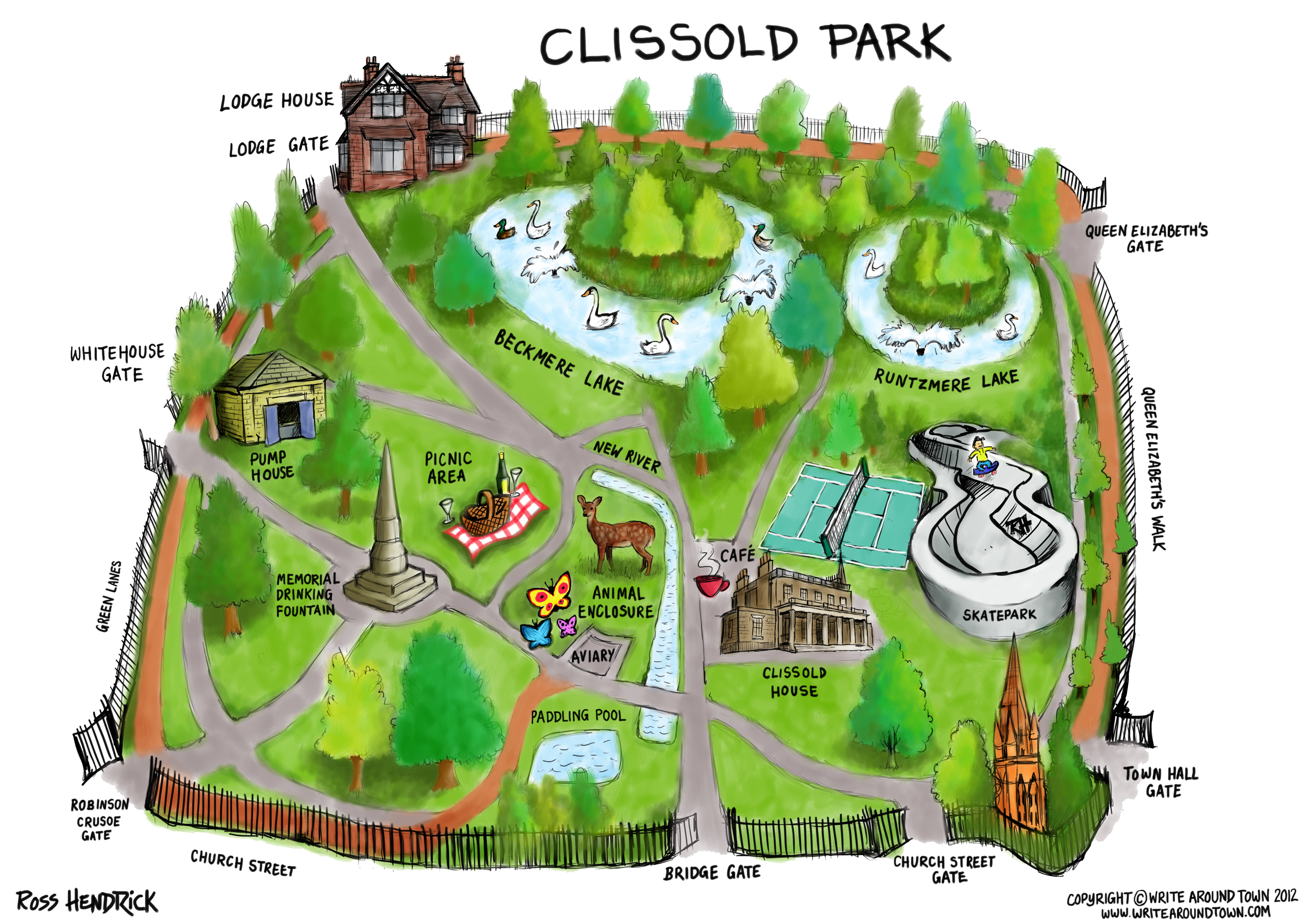 Talk To The Map Around The Park In 80 Days