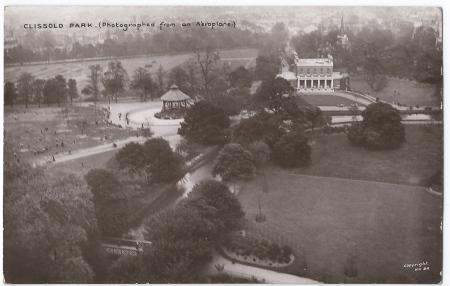 Clissold Park from the air